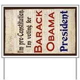 Obama Constitution Yard Sign