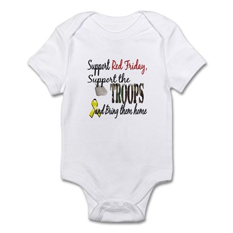 Support Red Friday Support Tr Infant Bodysuit