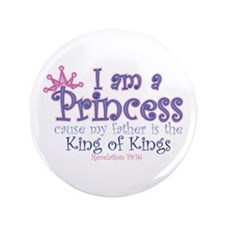 "I am a Princess 3.5"" Button"