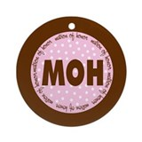 Polka Dot Matron of Honor Ornament (Round)