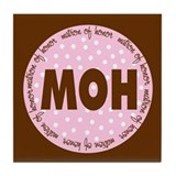 Polka Dot Matron of Honor Tile Coaster