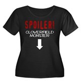 Spoiler Women's Plus Size Scoop Neck Dark T-Shirt