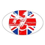 BRITISH DRAGON ANABOLICS Oval Sticker