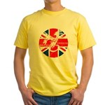 BRITISH DRAGON ANABOLICS Yellow T-Shirt