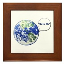 Save The World Framed Tile
