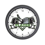 Golf Player Wall Clock