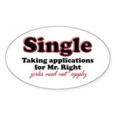 Single jerks not apply Oval Sticker (10 pk)