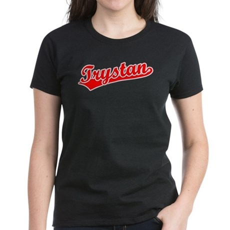 Retro Trystan (Red) Women's Dark T-Shirt