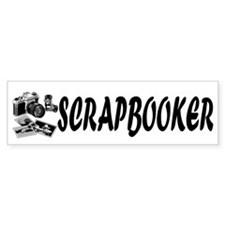 """SCRAPBOOKER"" with photography supplies Bumper Sticker"