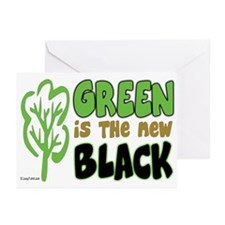 Green Is The New Black Greeting Cards (Pk of 20)
