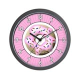 Cute Donut Wall Clock