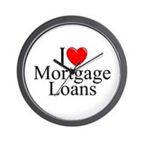 """I Love (Heart) Mortgage Loans"" Wall Clock"