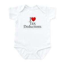 """I Love (Heart) Tax Deductions"" Infant Bodysuit"