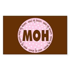 Polka Dot Maid of Honor Rectangle Decal