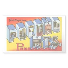 Pocono Mts Pennsylvania Rectangle Decal