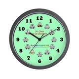 Autism Awareness Penguins (green) Wall Clock