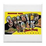 Starved Rock Park Illinois Tile Coaster