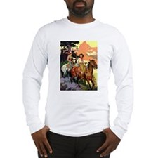 Western Scenic Long Sleeve T-Shirt