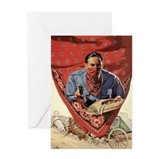 Western Outlaw Greeting Card