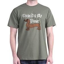 Chicks Dig My Wiener T-Shirt