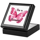 Due November Sparkle Butterfly Keepsake Box