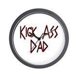 Kick Ass Dad Wall Clock
