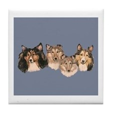 Sheltie 2 Tile Coaster