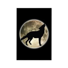 Coyote Howl Moon Rectangle Magnet