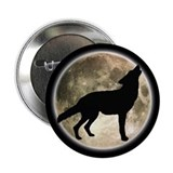 "Coyote Howl Moon 2.25"" Button"