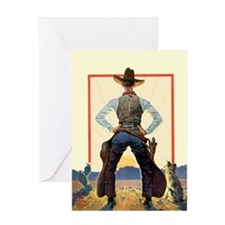 Morning Cowboy Greeting Card