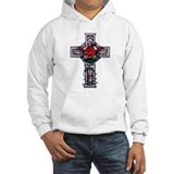 Cross Celtic Rose Jumper Hoody