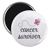 "Breast Cancer Survivor 2.25"" Magnet (10 pack)"