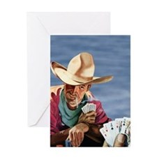Cowboy Poker Greeting Card