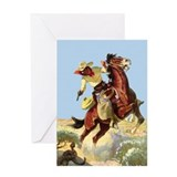 Cowboy and Snake Greeting Card