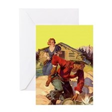 Cowboy and Wife Greeting Card