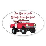 No Free Rides Lifted 4X4 Oval Decal