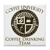 Coffee Drinking Team Tile Coaster