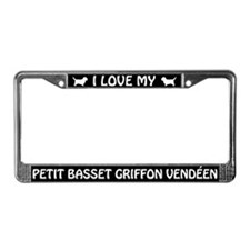 I Love My Petit Basset Griffon License Plate Frame