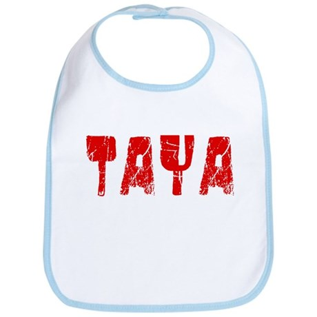 Taya Faded (Red) Bib