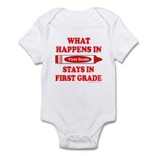 WHAT HAPPENS IN FIRST GRADE Infant Bodysuit