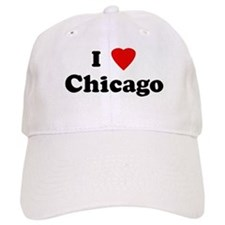 I Love Chicago Baseball Cap