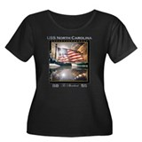 Battleship Women's Plus Sz Scoop Neck Dark T-Shirt