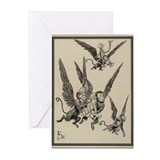 Flying Monkeys Greeting Cards (Pk of 10)