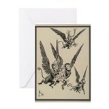 Flying Monkeys Greeting Card