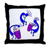 Kokopelli Muscians Throw Pillow