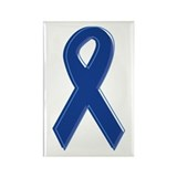Dk Blue Awareness Ribbon Rectangle Magnet (100 pac