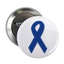 "Dk Blue Awareness Ribbon 2.25"" Button (10 pack)"
