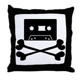 Music Pirate Throw Pillow