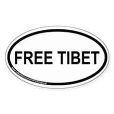 Free Tibet Oval Sticker (50 pk)