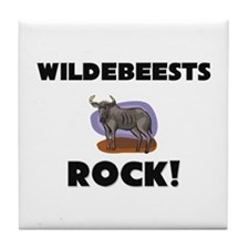 Wildebeests Rock! Tile Coaster